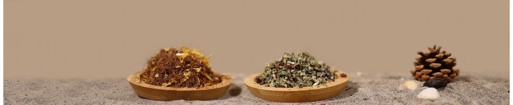 Plantes à fumée, en infusion, vaporisation, en remplacement du tabac.